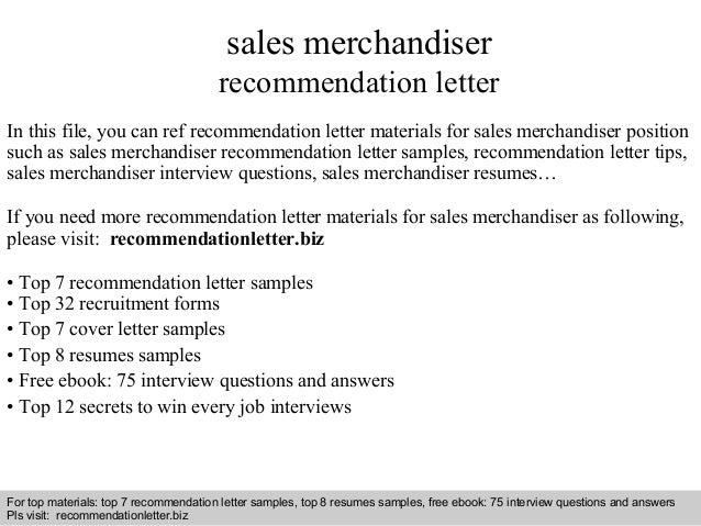 Interview Questions And Answers U2013 Free Download/ Pdf And Ppt File Sales  Merchandiser Recommendation Letter ...