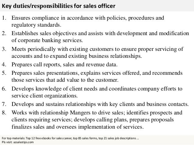 Sales officer - Role of compliance officer in bank ...