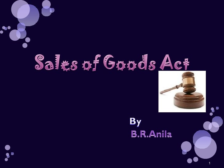 case study sale of goods act 1979