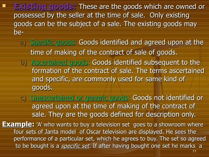 the sale of goods act 1930 Sale of goods act 1930 the sale of goods act is complimentary to the contract act basic provisions of the contract act apply to the contract of sale of goods as well.
