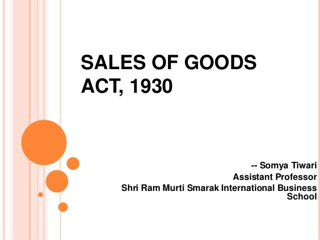 goods that of sale