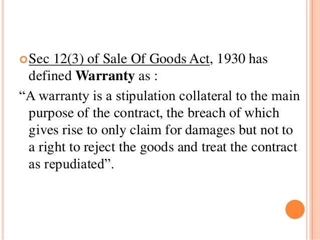define sale of goods