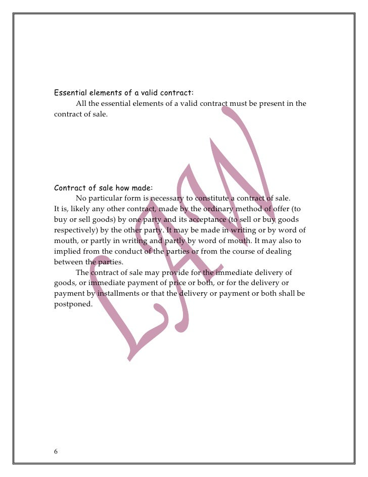 discuss the essential elements of a valid contract essay Valid contract academic essay explain the importance of the essential elements required for the formation of a valid contract12 discuss the impact of different types of contract13 analyze terms in contracts with reference to their meaning and effect21 apply the elements of contract in given business scenarios22.