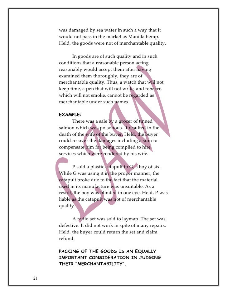 Download PDF The Sale Of Goods Act Free Online