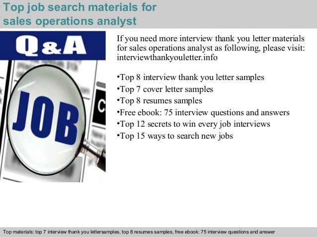5 top job search materials for sales operations analyst