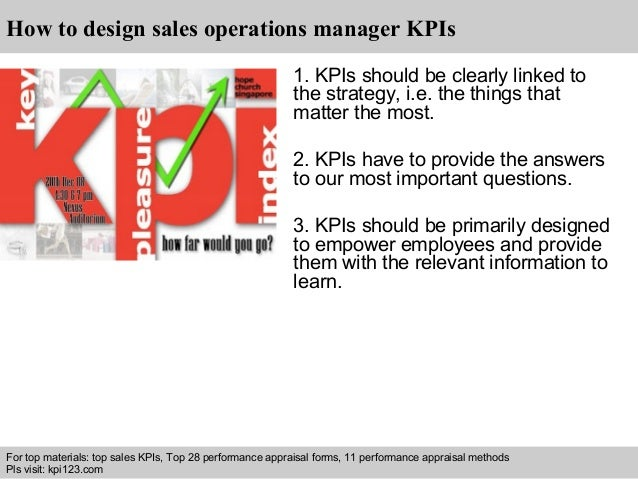 Sales operations manager kpis