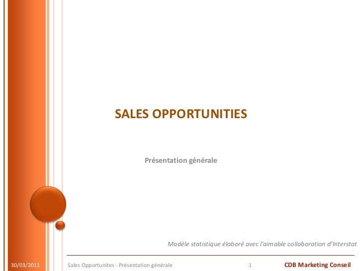 SALES OPPORTUNITIES<br />Présentation générale<br />28/03/11<br />Sales Opportunites - Présentation générale<br />1<br />M...