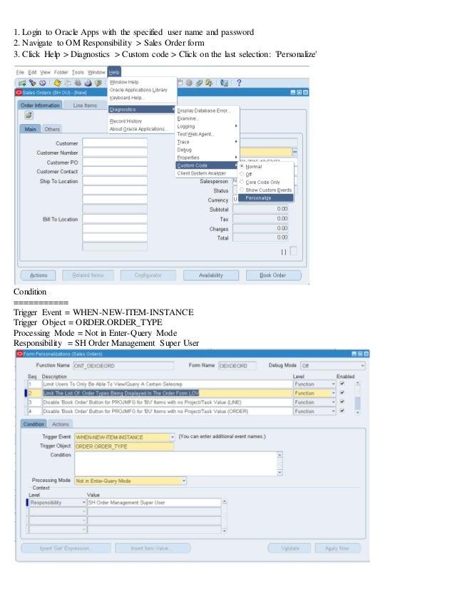 Oracle EBS R12 Sales order personalization