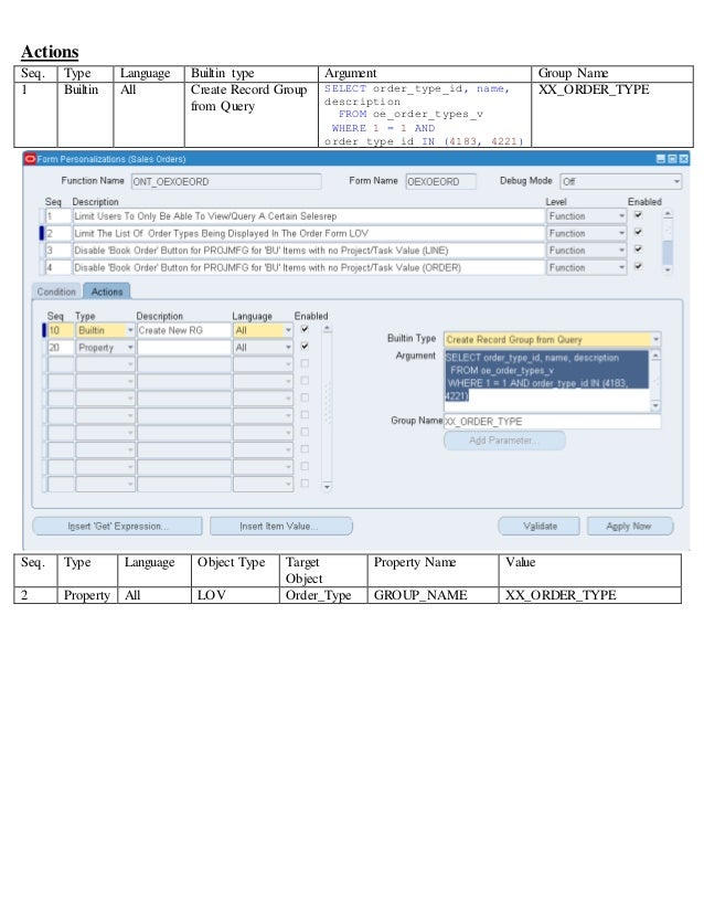 ... Order_Type GROUP_NAME XX_ORDER_TYPE; 9. Save The Changes. Close The Sales  Order Form ...