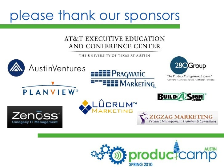 please thank our sponsors<br />