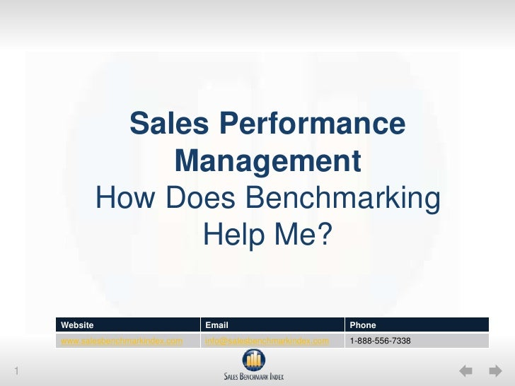 Sales Performance ManagementHow Does Benchmarking Help Me?<br />