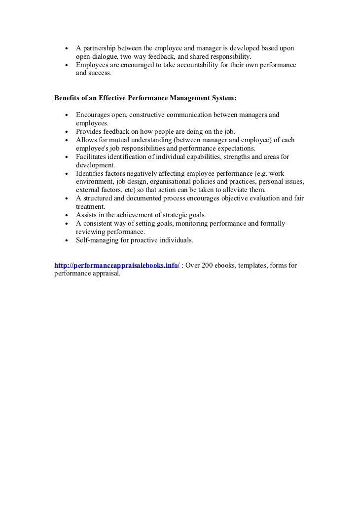 Sales performance reviews