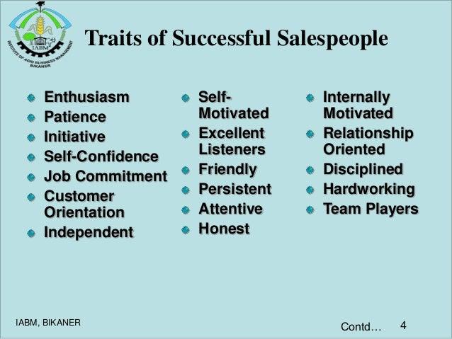 qualities of a successful salesman
