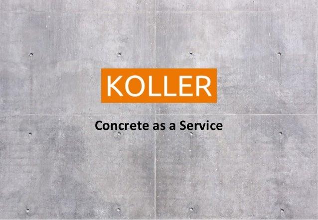 Concrete as a Service - Beton per Kubikmeter
