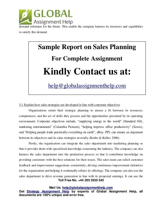 Sales assignment