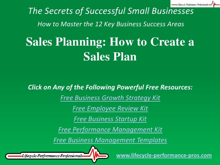 Video Sales Planning How To Create A Sales Plan