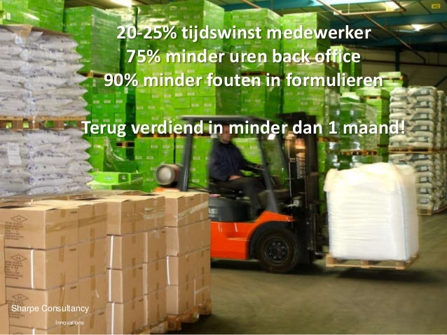 20-25% tijdswinst medewerker               75% minder uren back office           90% minder fouten in formulieren   • 20-3...