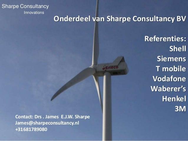Sharpe Consultancy        Innovations                      Onderdeel van Sharpe Consultancy BV                            ...