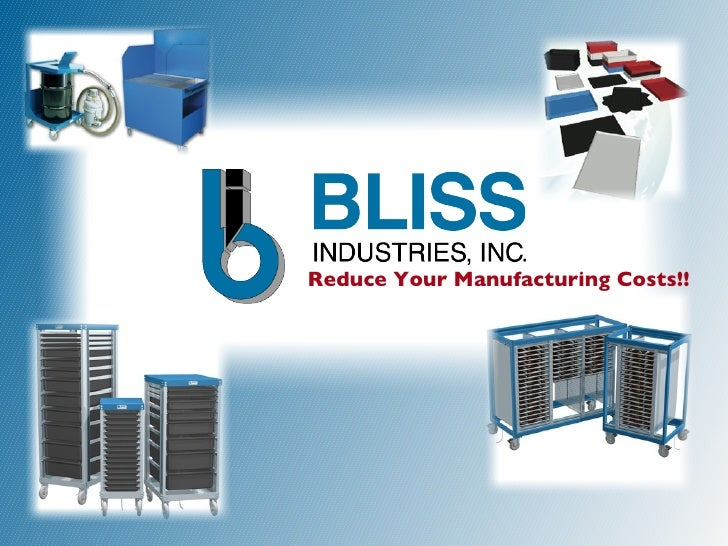 Reduce Your Manufacturing Costs!!