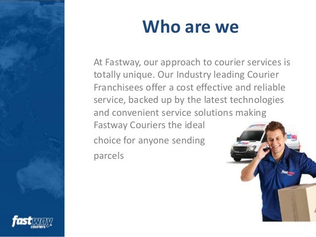 Sales Presentation  Fastway Couriers