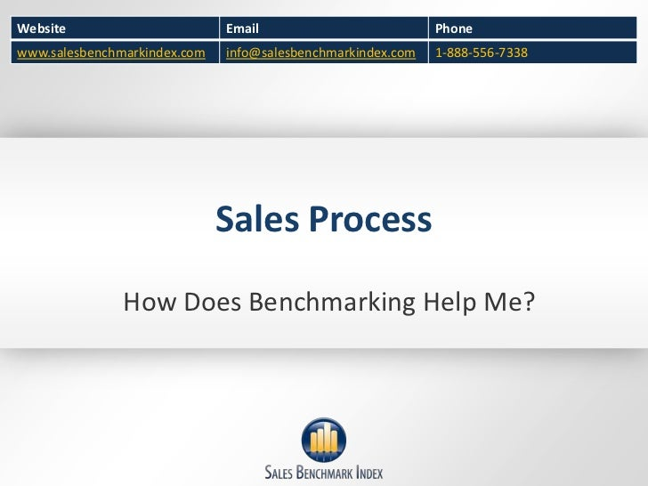 Sales Process<br />How Does Benchmarking Help Me?<br />