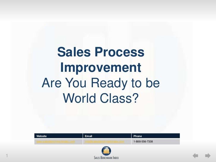 Sales Process ImprovementAre You Ready to be World Class?<br />