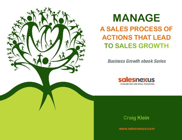 MANAGE A SALES PROCESS OF ACTIONS THAT LEAD TO SALES GROWTH Business Growth ebook Series  Craig Klein www.salesnexus.com