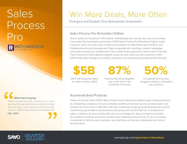 Sales Process Pro  Win More Deals, More Often Energize and Sustain Your Richardson Investment  Sales Process Pro Richardso...