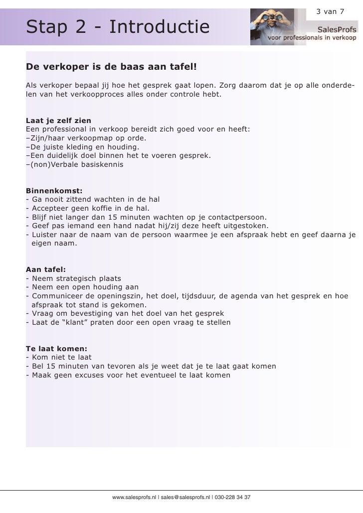 Stap 2 - Introductie                                                                                  3 van 7     De verko...