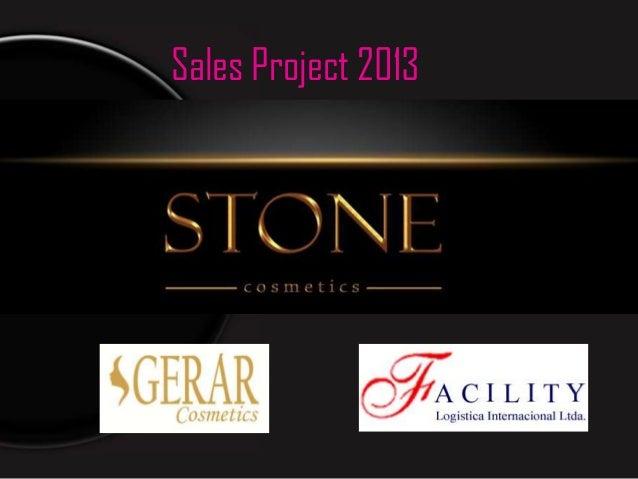 Sales Project 2013     Stone Cosmetics Ltd