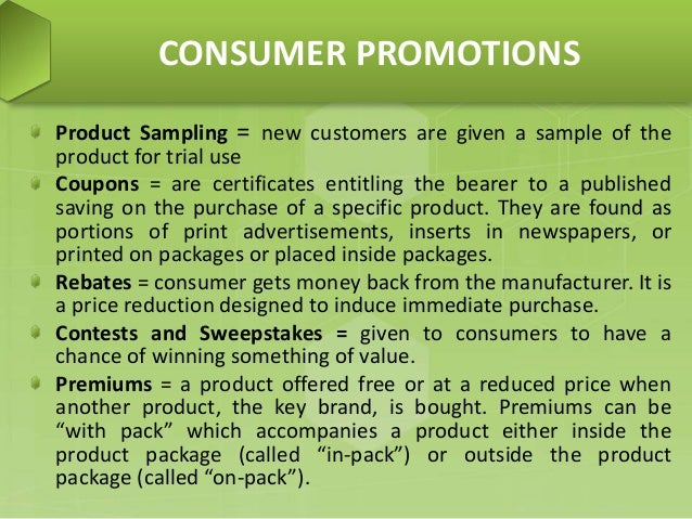 Sweepstakes free samples coupons and rebates are examples of quizlet