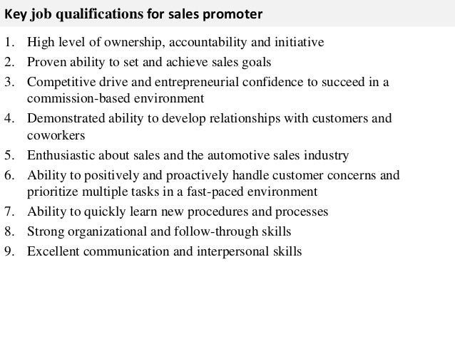 assigned 3 key job qualifications