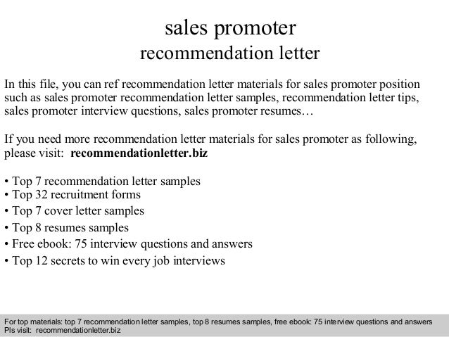 interview questions and answers free download pdf and ppt file sales promoter recommendation letter