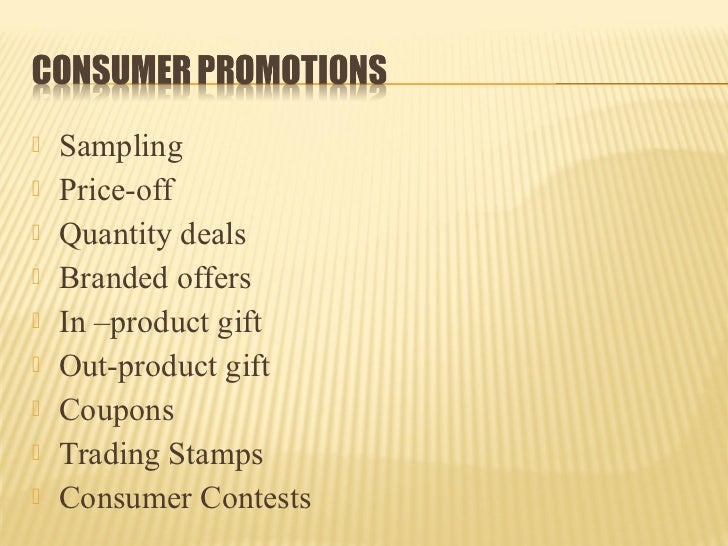 effectiveness of promotion schemes in consumer Sales promotion effectiveness: the impact of culture at an ethnic-group level  the majority of past studies on the effectiveness of consumer sales promotion have .