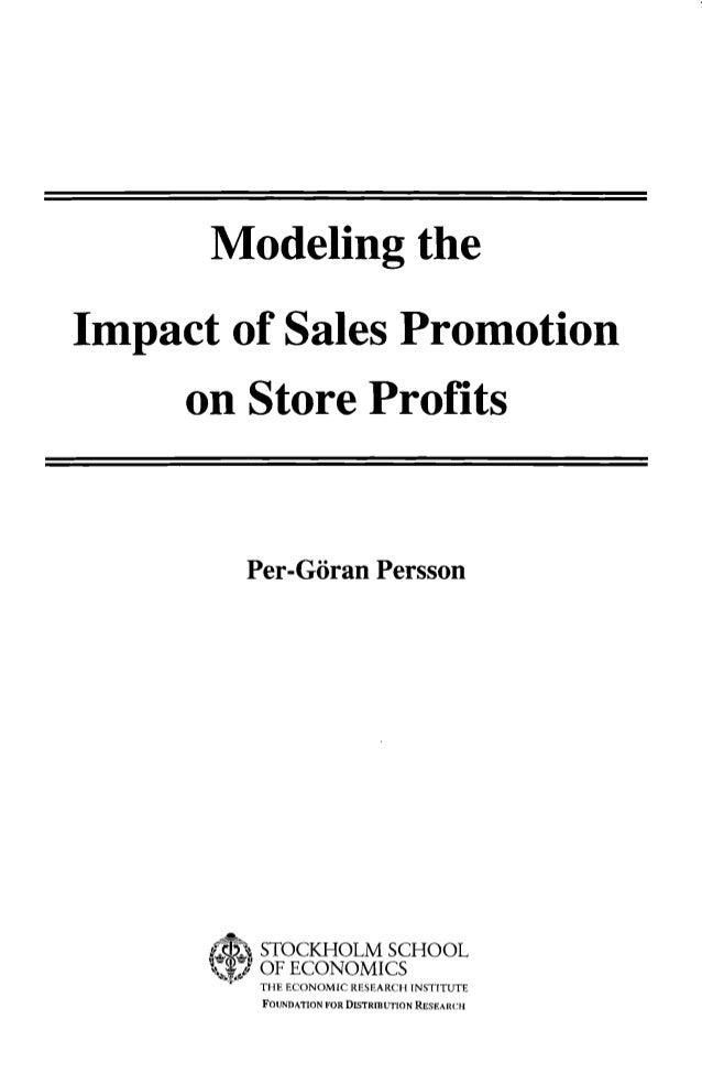 Sales promotion research papers