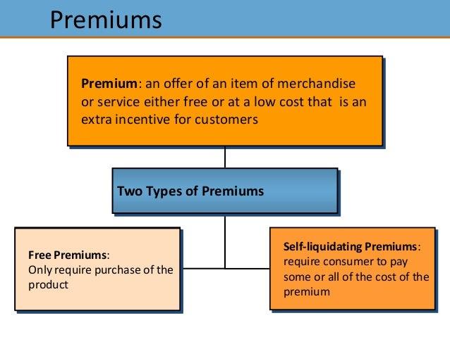 Self liquidating premium form