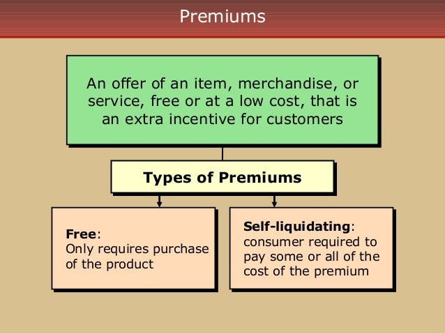 Non self liquidating premium
