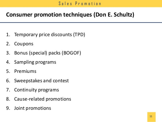 sale promotion techniques Sales promotion: basic sales promotion techniques