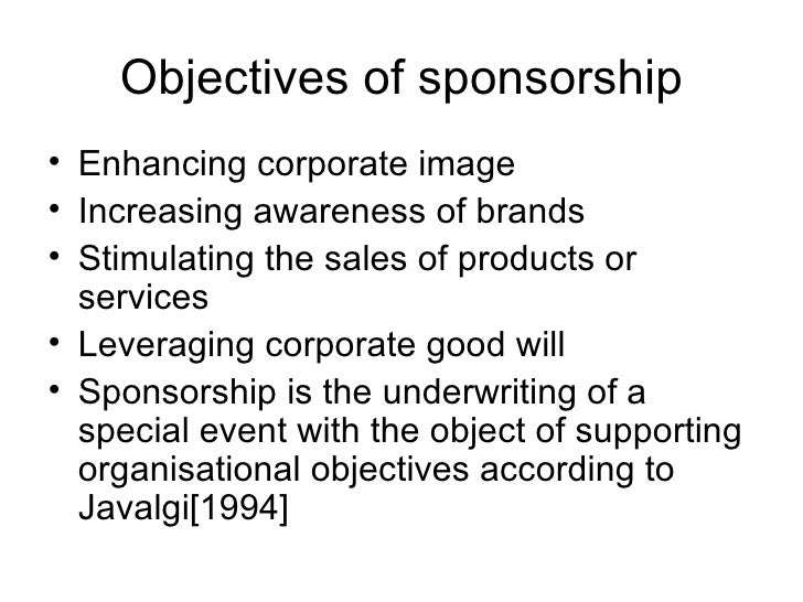 sponsorship management Existing literature has discussed the role of sport sponsorship in brand  management and the communication mix, and has highlighted the benefits for  firms that.