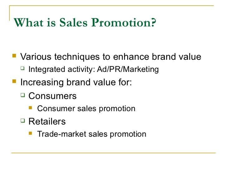 sales promotion this activity is Promotion: integrated marketing communication to stimulate sales sales promotion consumers are given either price discounts, coupons, or rebates.