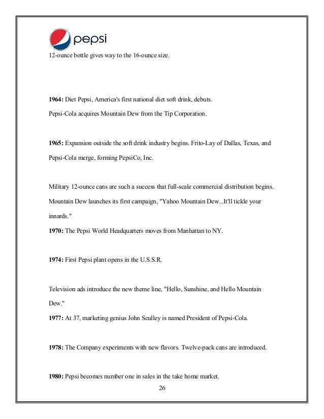 Sales promotion of pepsi – Promotion Points Worksheet