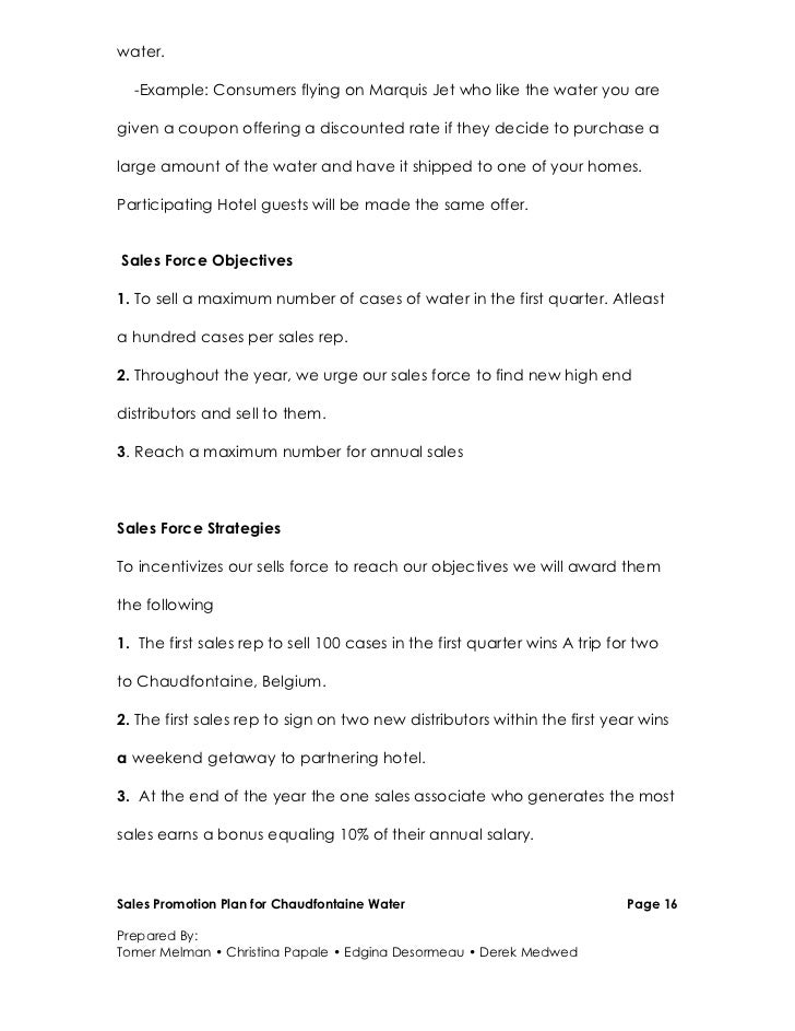 promotion proposal sample template examples
