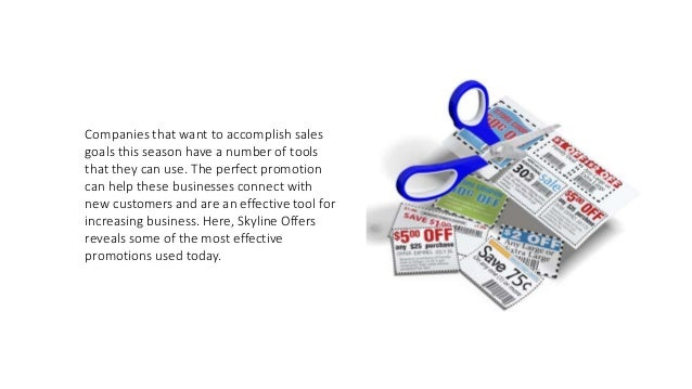 Great Promotions for Businesses Highlighted by Skyline Offers  Slide 2
