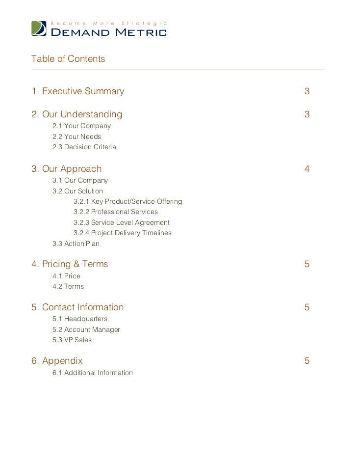 sales proposal templates