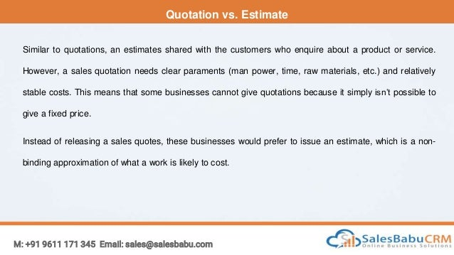 Sales Quotation Management Software