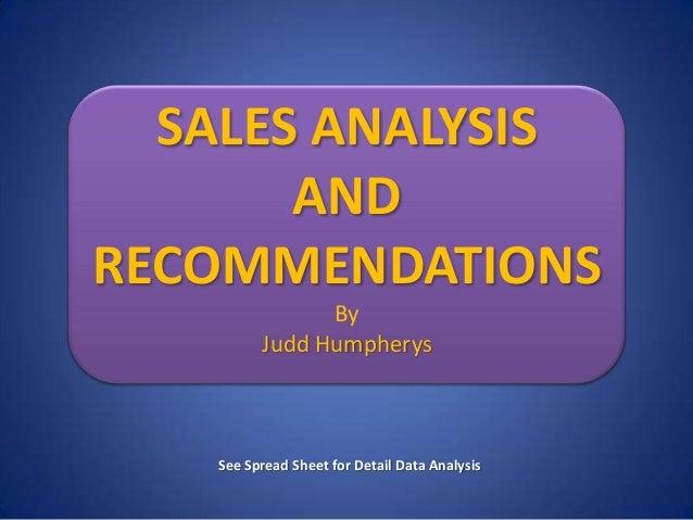 Recommendation report job analysis