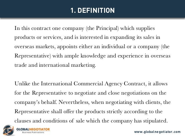 INTERNATIONAL SALES REPRESENTATIVE CONTRACT - Contract Template and S…