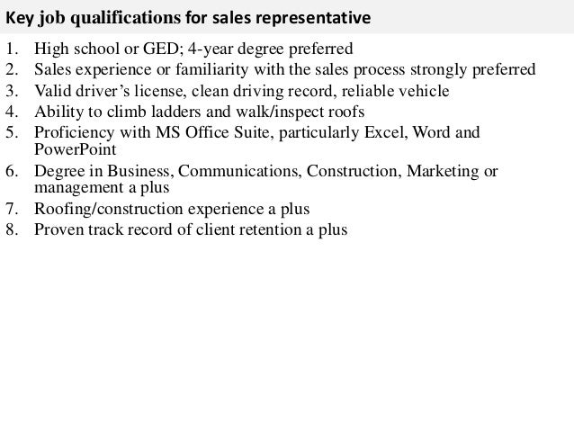 sales representative job description for resume - thelongwayup.info