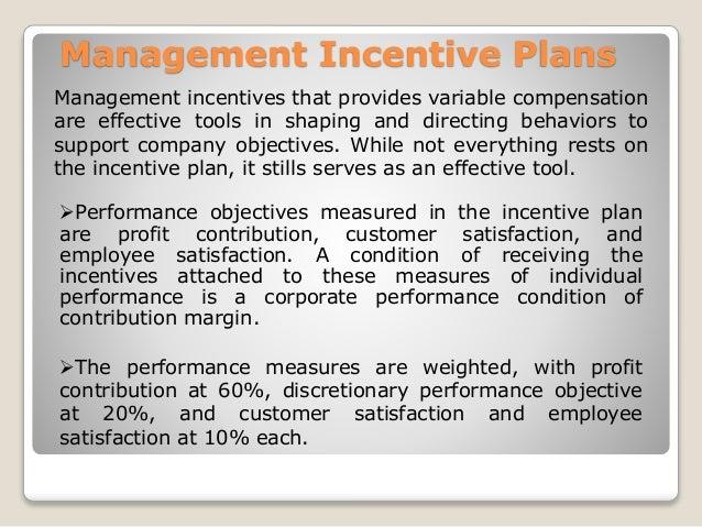 management incentive plan Saless incentive plans