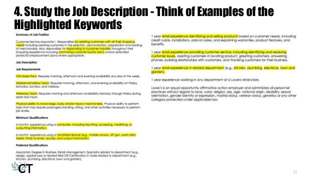 study your interviewers 10 11 - Lowe Customer Service Associate Sample Resume